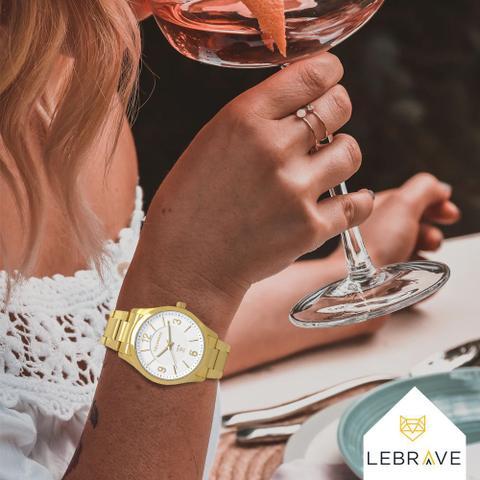 Imagem de Relógio Technos Feminino Dourado 2015BYYTD4B Prova d'água com 1 ano de garantia + pulseira brinde