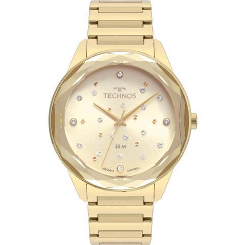 Imagem de Relógio Technos Feminino Dourado Elegance Crystal 2036MKH/4X