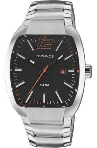 Imagem de Relógio Technos Masculino 2115KLH/1P Quadrado Aço Prata