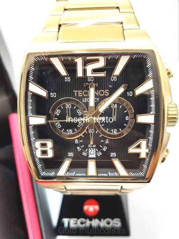 Imagem de Relógio Technos Masculino Analógico Cronógrafo Dourado Quadrado JS25AR/1D