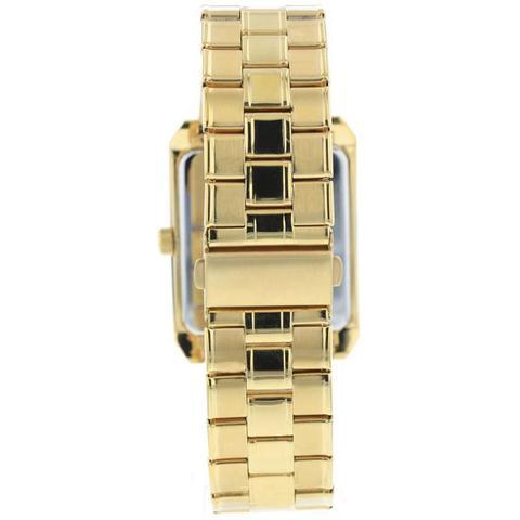 Imagem de Relogio Technos Masculino Dourado Quadrado Aço Inox a prova dagua 2115kob/1d