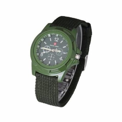 Imagem de Relógio Unisex Swiss Army Militar Suiço Esportivo Verde