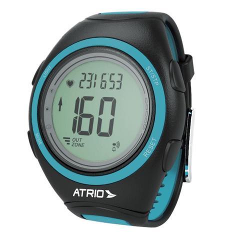 Imagem de Relógio Unissex Atrio Citius Monitor Cardíaco ES050 Preto/Azul