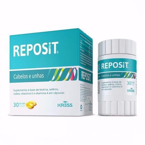 Imagem de Reposit cabelo e unhas Kress - 90 Cápsulas -  Biotina, selênio e vitaminas
