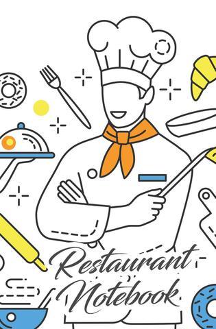 Imagem de Restaurant Notebook - Engaged living books