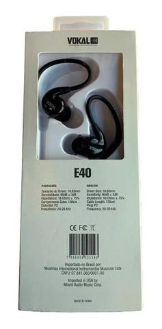 Imagem de Retorno Palco Profissional Fone De Ouvido In Ear Vokal E40