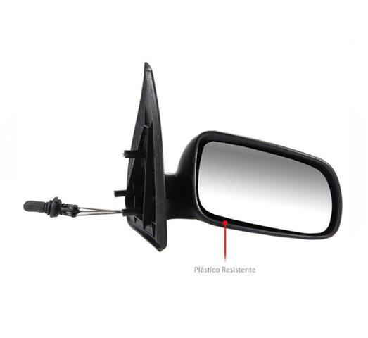 Imagem de Retrovisor Com Controle Manual Direito Convexo 4 Portas VW Gol G3