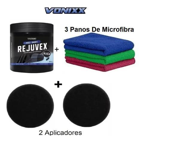 Imagem de Revitalizador Plástico Vonixx Rejuvex Black 400g + Aplicador