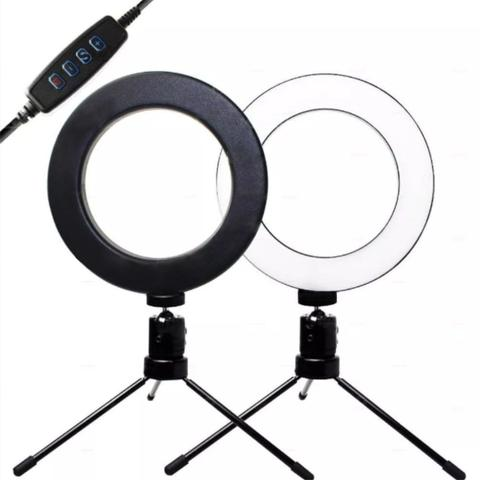 Imagem de Ring Light 16 CM Portátil + Tripe 15 cm - RL16CM yOUTUBER