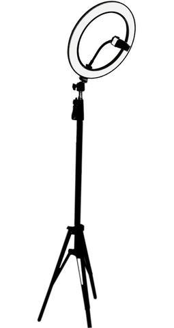 Imagem de Ring Light Completo Iluminador Portátil 26cm + Tripé 175cm