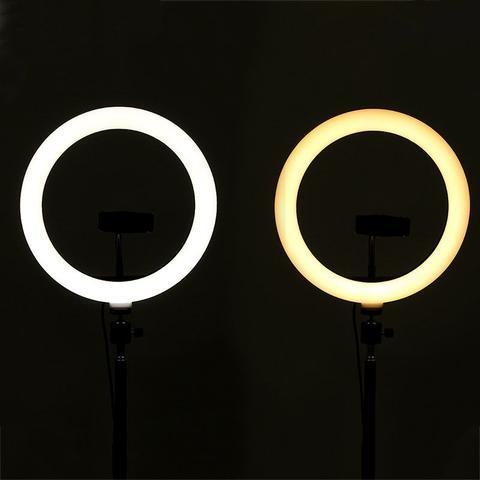 Imagem de Ring Light Portátil Iluminador Led USB 26cm 3500k 5500k + Tripé