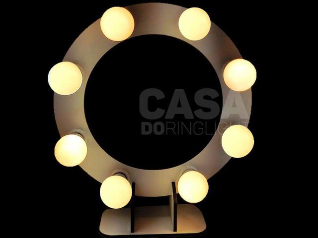 Imagem de Ring Light Tatto Lampada Led Flash reclinavel Luz profissional 40 polegadas  fotografico live