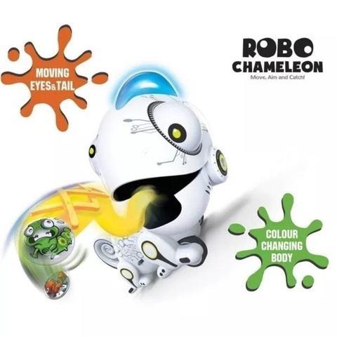 Imagem de Robo Camaleão Com Controle Remoto Luz Led Colorida Dtc