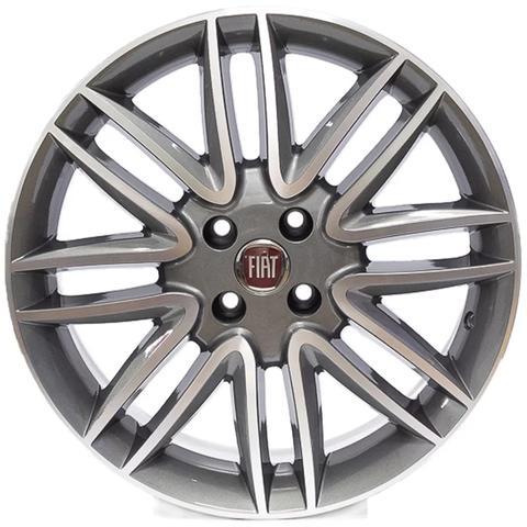 Imagem de Roda Krmai R14 ( Fiat Punto ) Aro 17x7 Grafite Diamantado