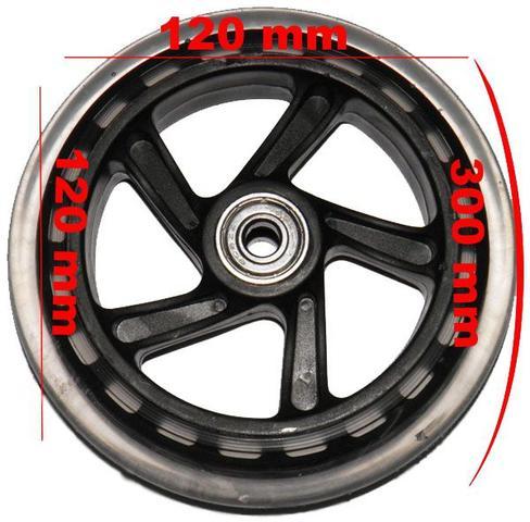 Imagem de Roda Rodinha Para Carrinho de Feira Bebe Bagagem Mala Bagageiro Com Rolamento  Abec 7 Silicone (RA-D)