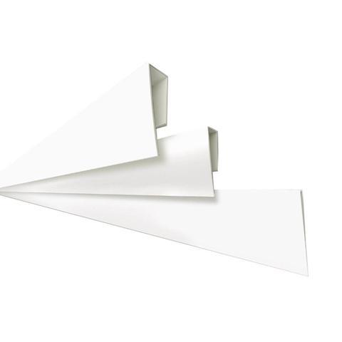 Imagem de Rodaforro Perfil U Polifort para Acabamento Lateral 8mm x 3cm x 3,00m (Barra) Branco Neve