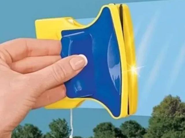Imagem de Rodo Limpa Vidro  Magnético  Rodo Super  Imã Janela Aquários
