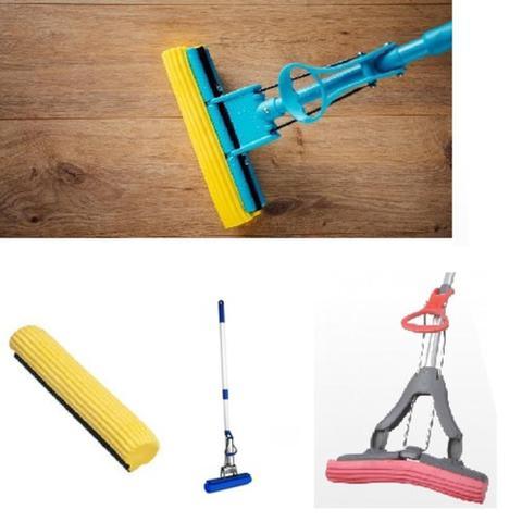 Imagem de Rodo magico limpeza geral mop cabo retratil esfregao absorve, limpa e seca vassoura