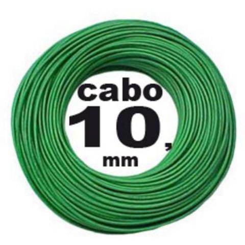 Imagem de Rolo C/ 100 Metros Fio Cabo Flexível 10mm X 750v Verde - Tekfio