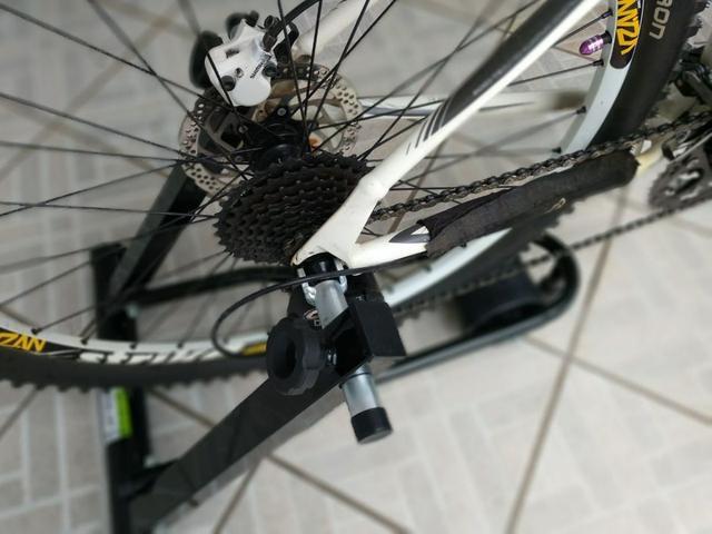 Imagem de Rolo de treino + Extensor para exercicio intermediario Rolo Dobrável Exercicio Ciclismo Simulado