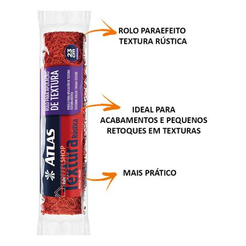 Imagem de Rolo Textura Rústica 23 Cm Cabelo De Anjo Atlas Envio Rápido