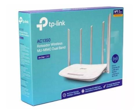 Imagem de Roteador Archer C60 V2 Wi-Fi Wireless TP-Link AC1350 Dual Band