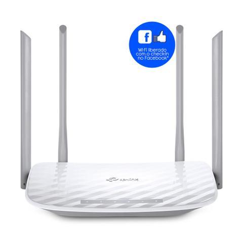 Imagem de Roteador TP-Link Archer C50 V4 Dual Band AC1200 Mbps Check-in Facebook Branco 4 Antenas 10/100