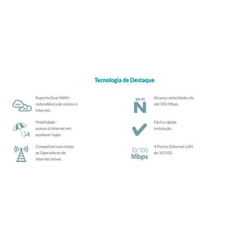Imagem de Roteador Wireless 4g E 3g 300mbps D-link Dwr-116 2 Ant Preto