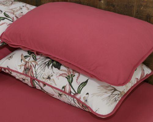 22c430a1dc Roupa de cama conjunto floral carmin - Pertutty soft - Jogo de Cama ...
