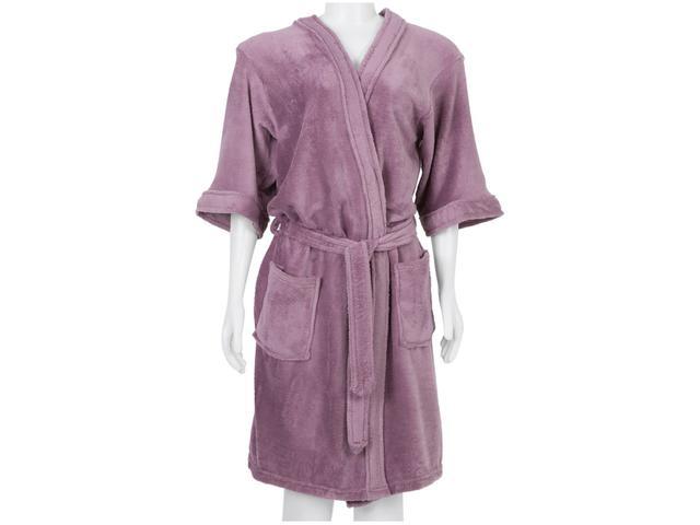 Imagem de Roupão Atlântica Kimono de Microfibra Alfazema