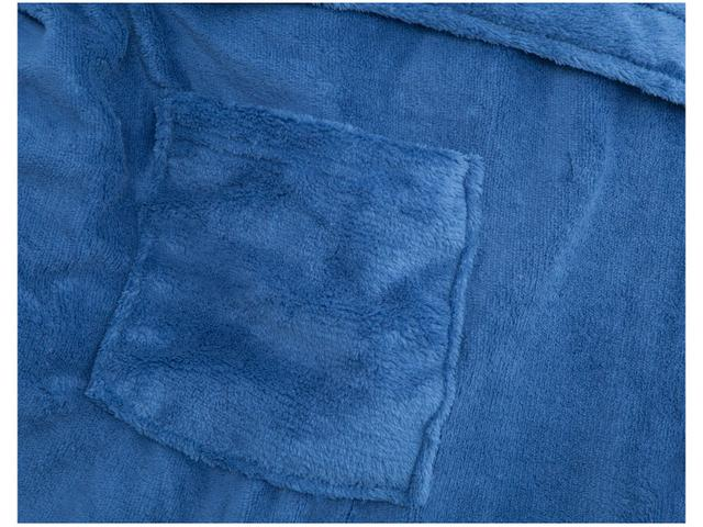 Imagem de Roupão Atlântica Kimono de Microfibra Azul Veleiro