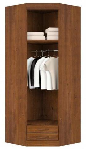 Imagem de Roupeiro de Canto 1 Porta Com Espelho Parma De Madeira Maciça Pinus