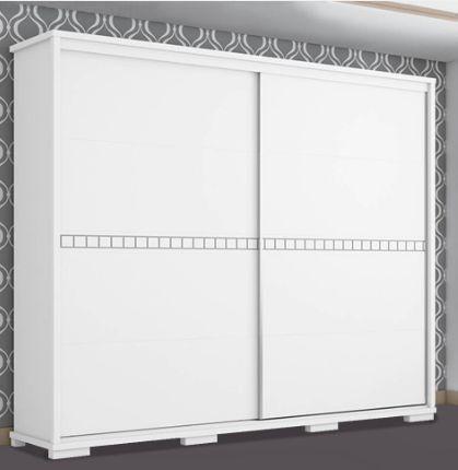 Imagem de roupeiro fenix casal 100% mdf com 2 portas de correr cadenza branco