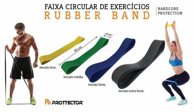 Imagem de Rubber Band - Elastico de Pilates - Forte - Azul- Prottector