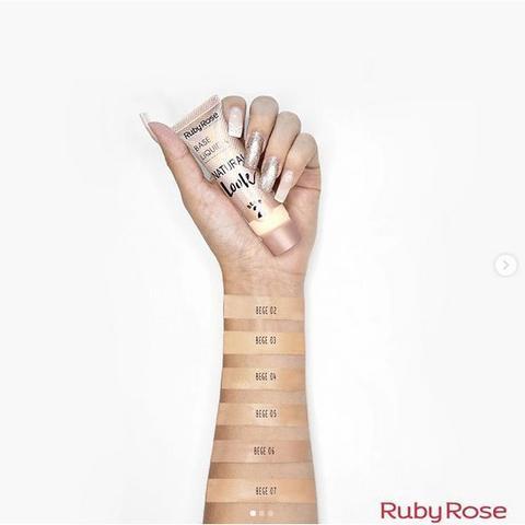Imagem de Ruby Rose - Base Líquida Natural Look Bege 4