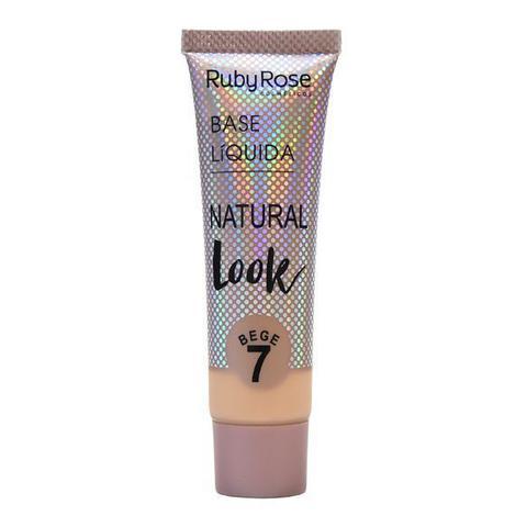 Imagem de Ruby Rose - Base Líquida Natural Look Bege 7