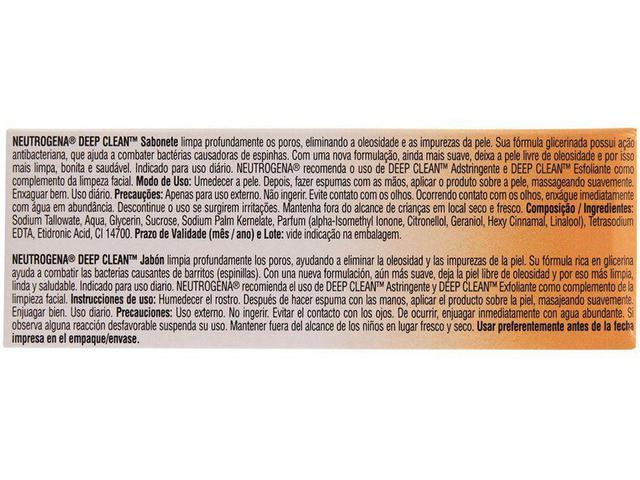 Imagem de Sabonete em Barra Facial Neutrogena - Deep Clean Limpeza Profunda 80g