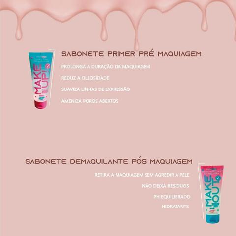 Imagem de Sabonete Pré E Pós Maquiagem + Esponja Facial Polvo