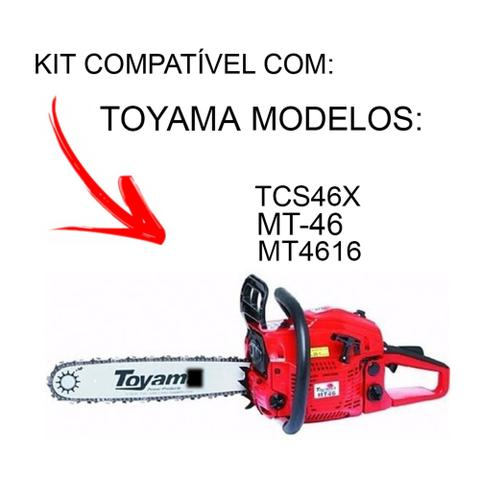 Imagem de Sabre 16 + 2 Correntes Motosserra Toyama Mt46 l mt-46 l tcs46x l mt4516 l 32 dentes l 64 elos .325