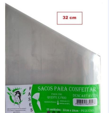 Imagem de Saco de Confeitar/Manga descartável-Pequeno 32cm x 19cm- 20 unidades
