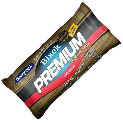 Imagem de Saco De Lixo Black Premium Reforçado 150 Litros Com 10 Unid