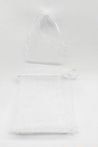 Imagem de Saco de Organza 12x17 Branco  pacote com 10 unidades