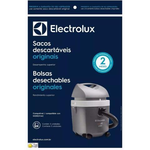 Imagem de Saco Descartável Electrolux Hidrovac - Kit C/3 - 70035082
