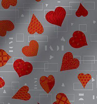 Imagem de Saco metalizado - love xaz prata: 35x55 c/ 50 un