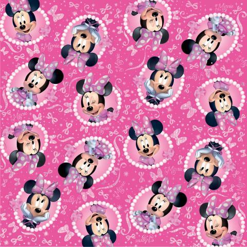 Imagem de Saco P/Presente Minnie Disney Rosa Bilho 25X37Cm C/40 Un.