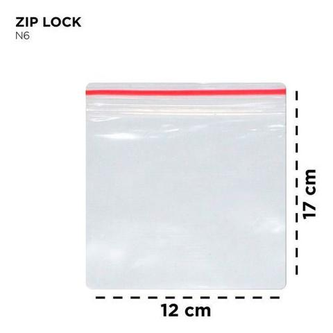 Imagem de Saco ZIP LOCK 12 X 17 CM N6- 100 Unidades