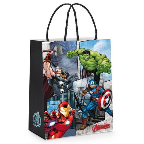 Imagem de Sacola P/Presente Vingadores Heroes Marvel 21,5X15Cm C/10