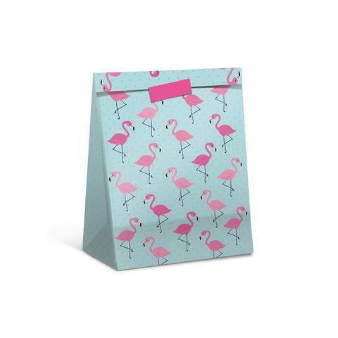 Imagem de Sacola Pacote P/Presente Flamingo Rosa P Dec. Festas