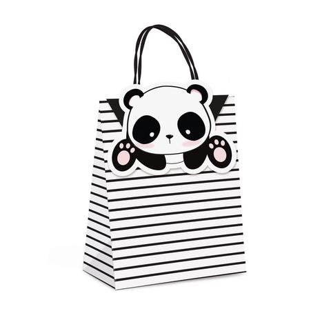 Imagem de Sacolas para Presentes Festa Panda Rosê 10 unidades Cromus