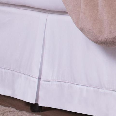 Imagem de Saia Box Queen Classic Ponto Palito 01 Peça 100% Algodão 180 Fios - Branco